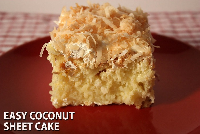 Most clicked recipe from last week's Delicious Dishes Party was Coconut Sheet Cake. from Don't Sweat the Recipe.
