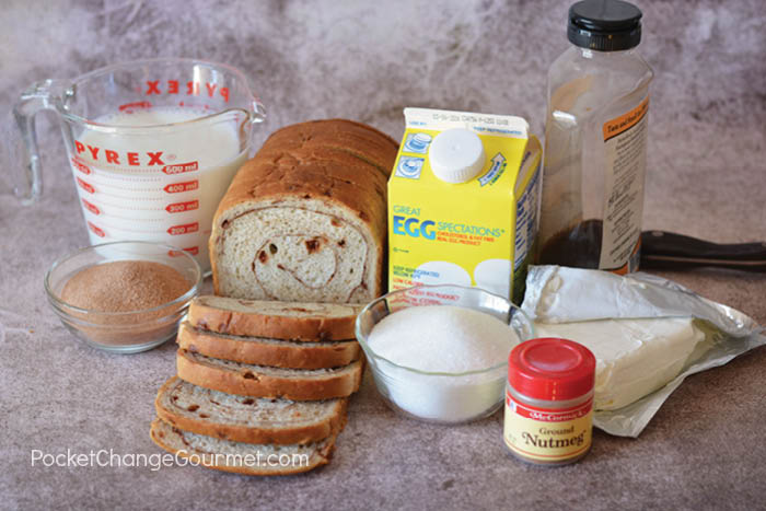 Make Ahead French Toast Casserole Ingredients