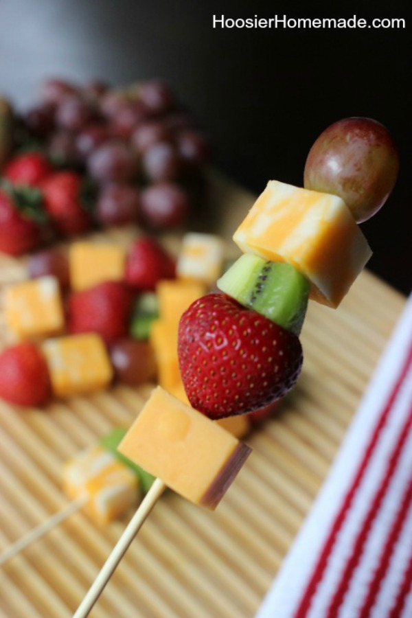Easy Fruit and Cheese Kabobs