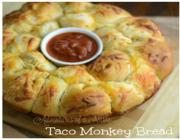 Taco Monkey Bread from Adventures of a Nurse.