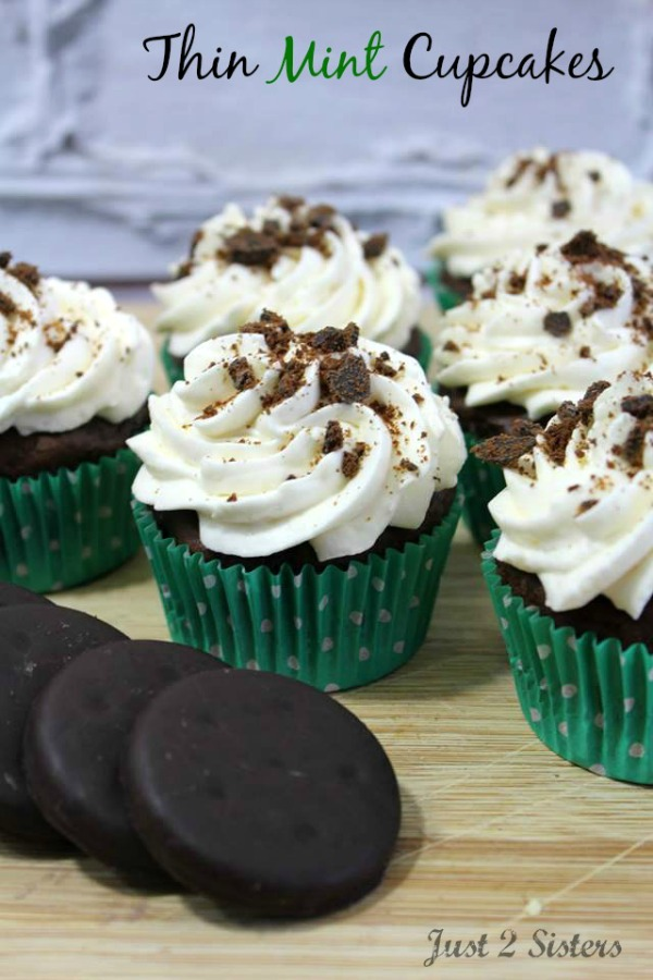 Thin Mint Cupcakes from Just 2 Sisters