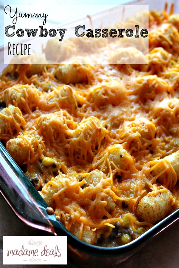 Cowboy Casserole Recipe from Madame Deals had the Most Clicks from last week's Delicious Dishes Recipe Party #9.