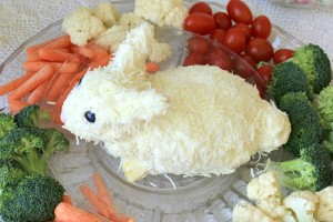 Cutest Bunny Cheese Ball from Crafts a la Mode