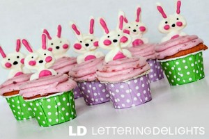 Easter Bunny Cupcake Toppers from She Saved