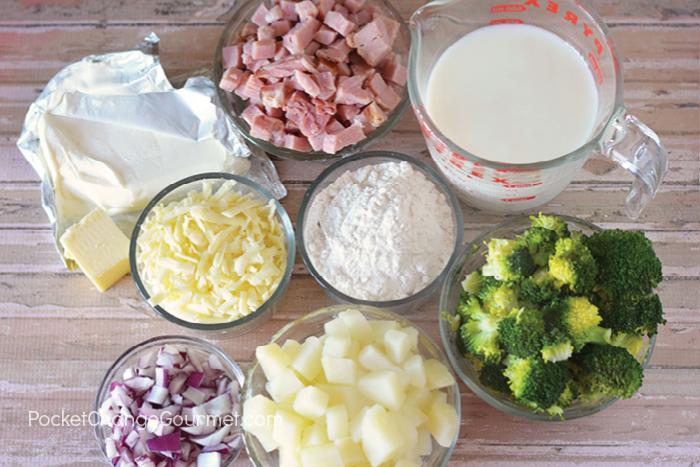 Broccoli & Ham Casserole Ingredients