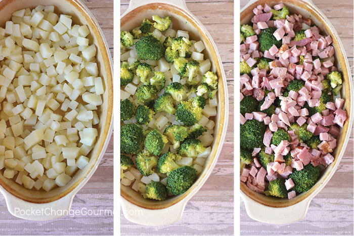 Looking for a delicious family favorite recipe to use up leftover ham? This Broccoli and Ham Casserole is perfect! Try this quick weeknight meal idea!
