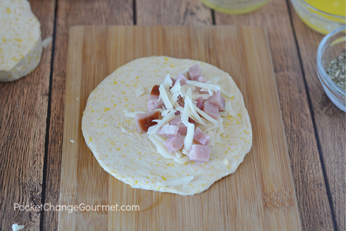 Ham and Cheese Pocket Assembly
