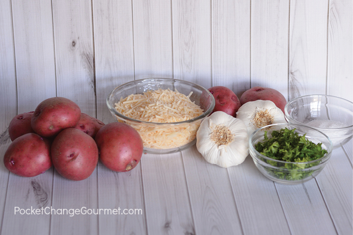 Ingredients for Smashed Potatoes.