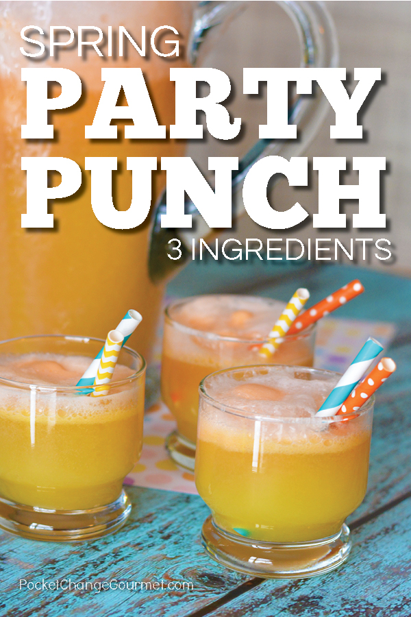 Whip up a batch of the Spring Punch for your next Party! ONLY 3 ingredients - Super EASY - Super DELICIOUS! Budget friendly too!