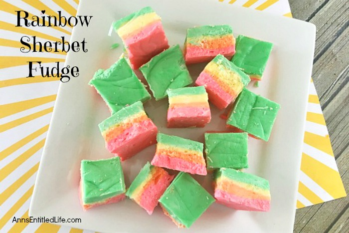 Rainbow Sherbet Fudge from Ann's Entitled Life