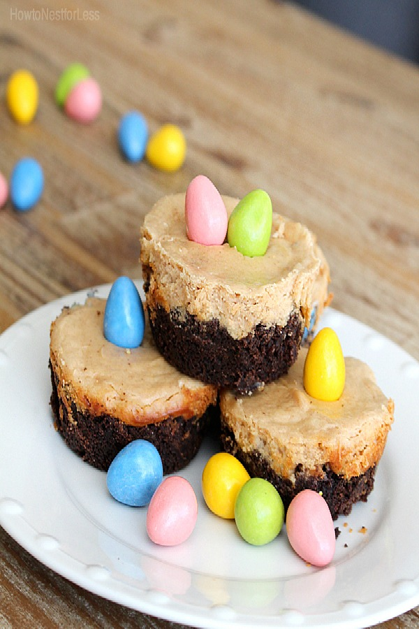 Reeses Pieces Peanut Butter Mini Cheesecakes from How to Nest for Less