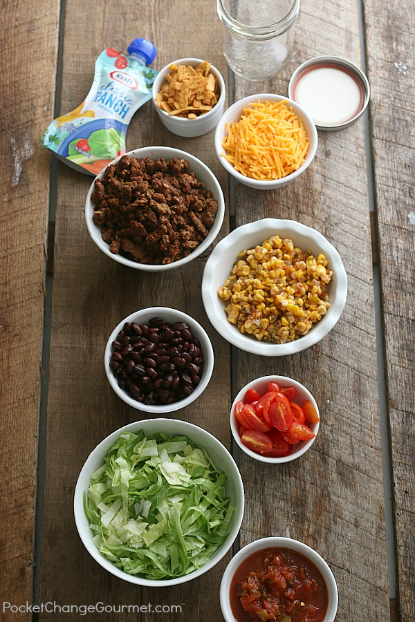 Taco salad in a jar pocket change gourmet taco salad in a jar this quick and easy lunch recipe is not only forumfinder Gallery
