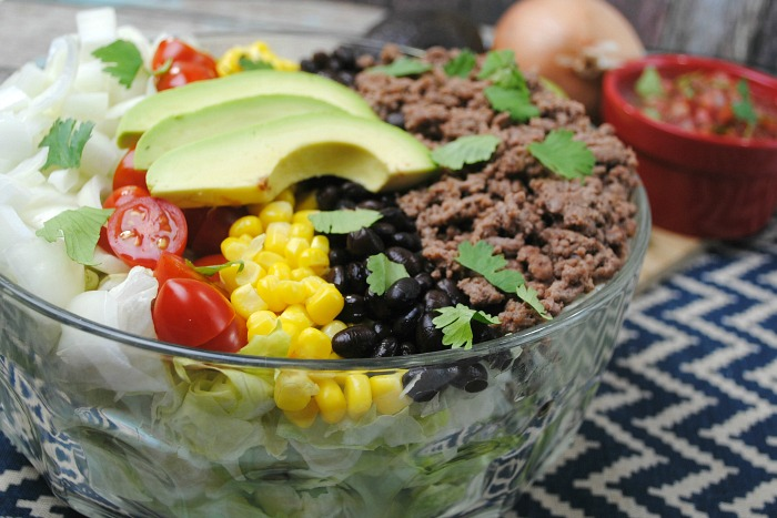 Easy Taco Salad from Just 2 Sisters