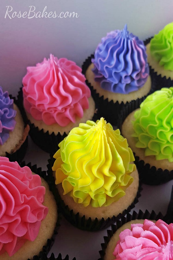 Festive Bright Cupcakes from Rose Bakes