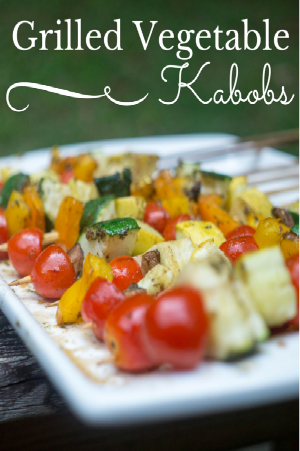 Grilled Vegetable Kabobs from Divas Run for Bling
