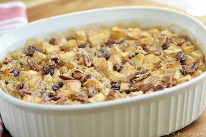 Hearty Apple Baked Oatmeal from Baby Loving Mama