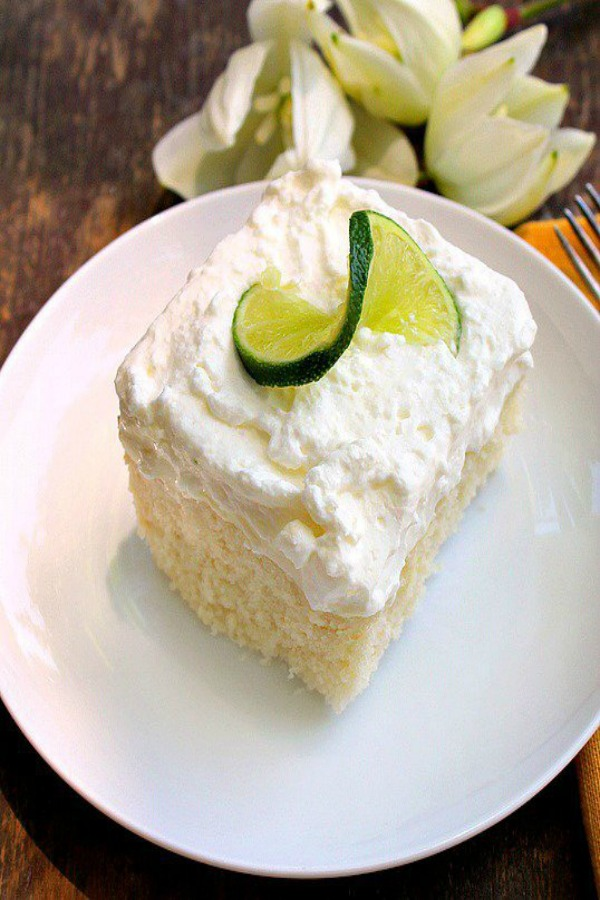 Key Lime Poke Cake from Bunny's Warm Oven