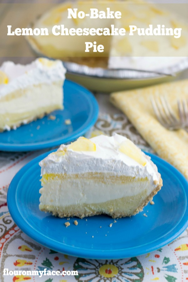 No Bake Lemon Cheesecake Pudding Pie from Flour on My Face
