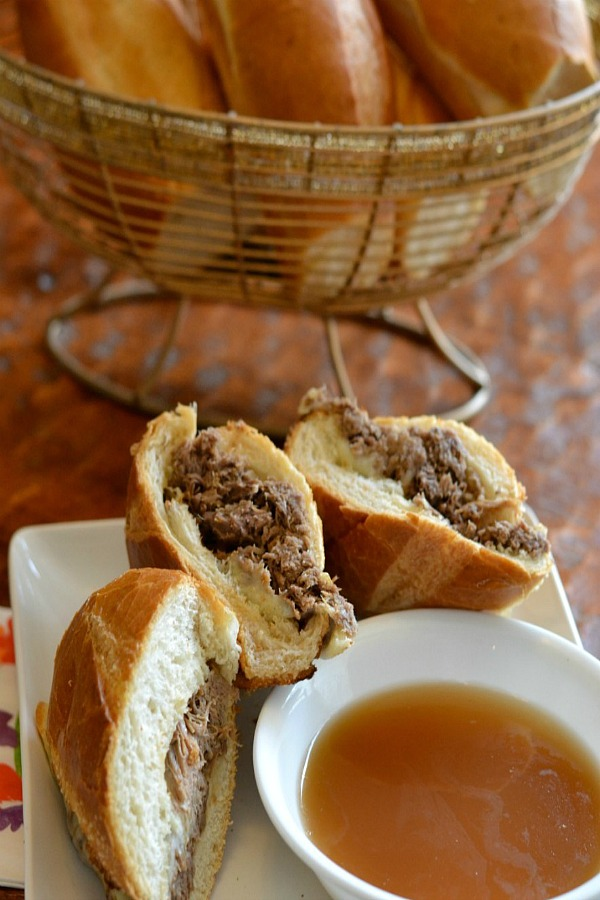 Simple Slow Cooker French Dip Sandwiches from Good + Simple.