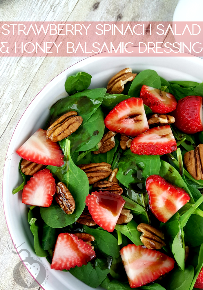 Strawberry Spinach Salad with Honey Balsamic Dressing