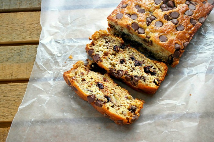 Chocolate Chip Banana Bread from Teaspoon of Goodness