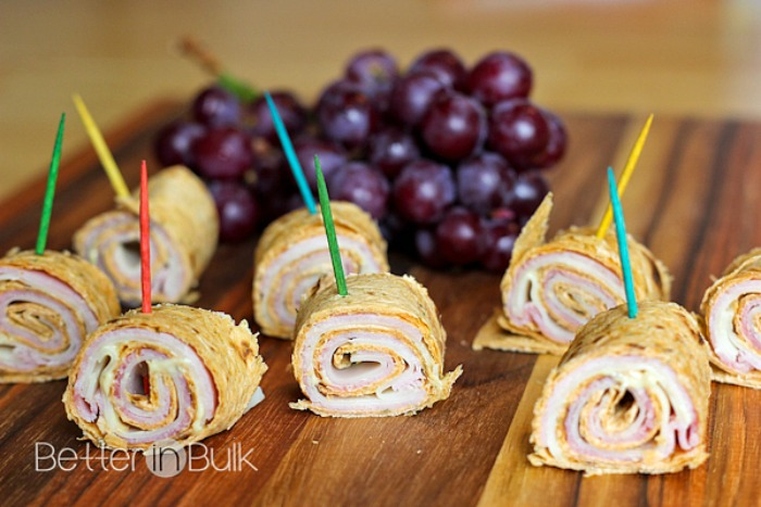 Ham and Swiss Cheese Pinwheels from Food Fun Family