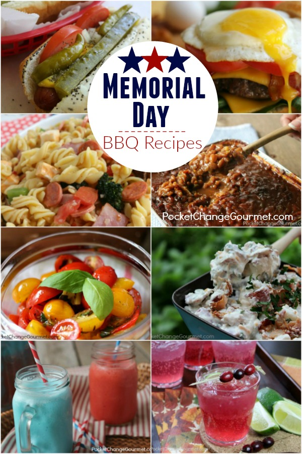 Fire up the Grill! The Summer season kicks off with these Memorial Day BBQ Recipes! Main Dishes - Sides - Salads - Drinks and more!