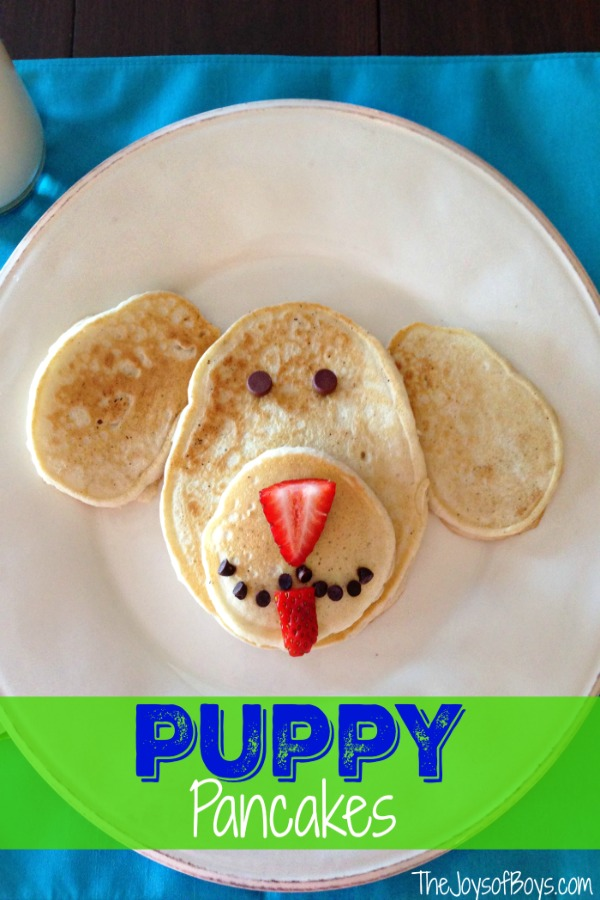 Puppy Pancakes from The Joys of Boys