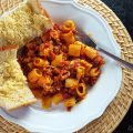 Spicy Sausage Cheese Pasta from Rose Bakes