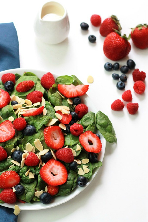Three Berry Salad with Poppy Seed Salad from The Whole Serving