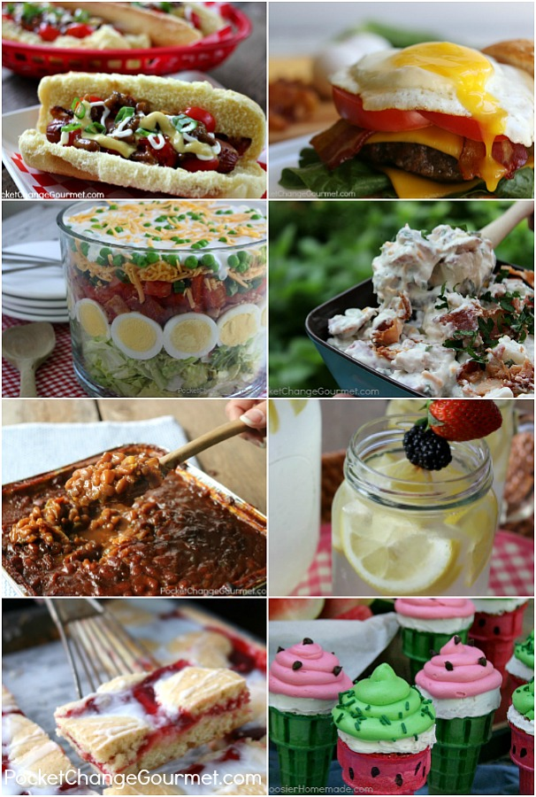 4th of July Picnic Recipes -- it's time to celebrate with family and friends! Are you heading to a Picnic or Potluck? Need a Recipe? Grab one of these budget friendly - kid approved 4th of July PIcnic Recipes!