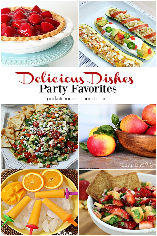Delicious Dishes Party Favorites #23 featured on Pocket Change Gourmet