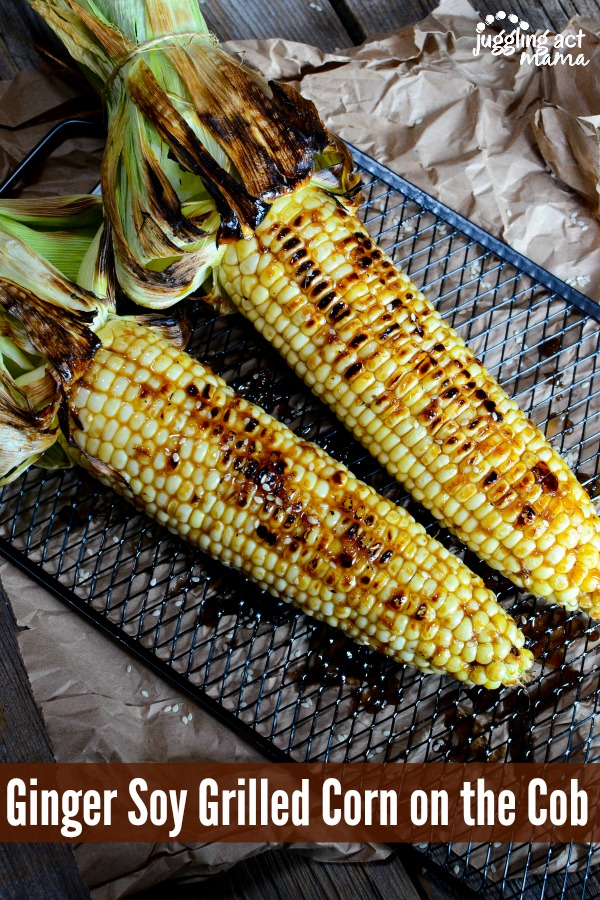 Ginger Soy Grilled Corn on the Cob from Juggling Act Mama