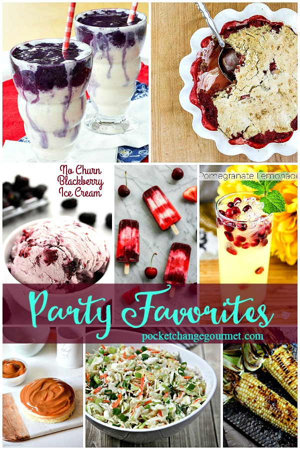 Party Favorites from Delicious Dishes Recipe Party #24 featured on Pocket Change Gourmet