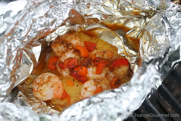 Pineapple Shrimp Foil Packets