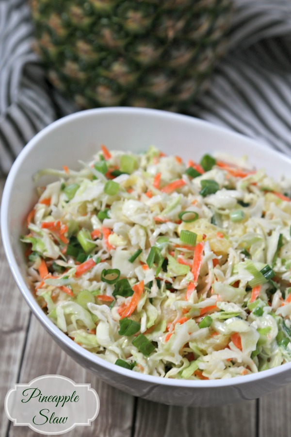 Pineapple Slaw from Cooking in Stilettos