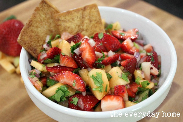 Strawberry Cantaloupe Salsa from The Everyday Home Blog