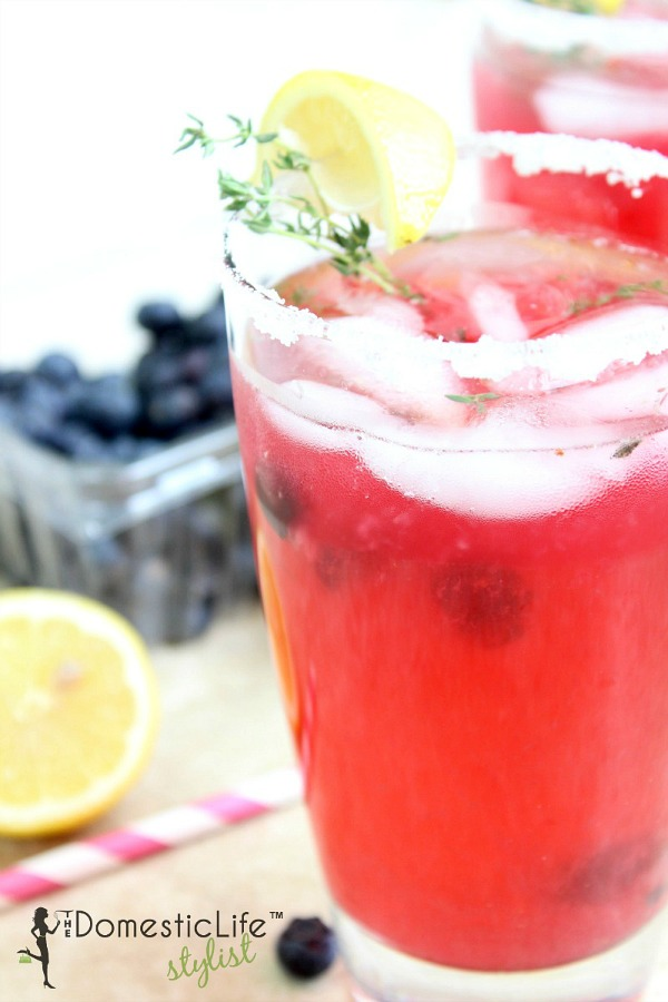 Summer Thyme Blueberry Lemonade from The Domestic Lifestylist