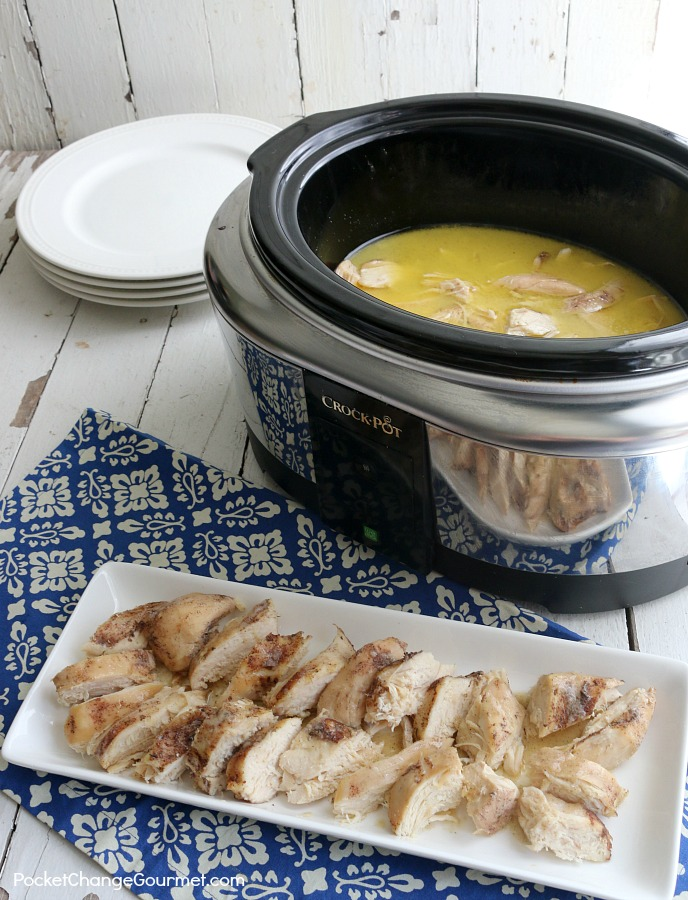 Looking for something different while still being easy? Well look no further than this Slow Cooker Garlic Chicken! It's about as easy to make as normal chicken, but with a unique flavor.
