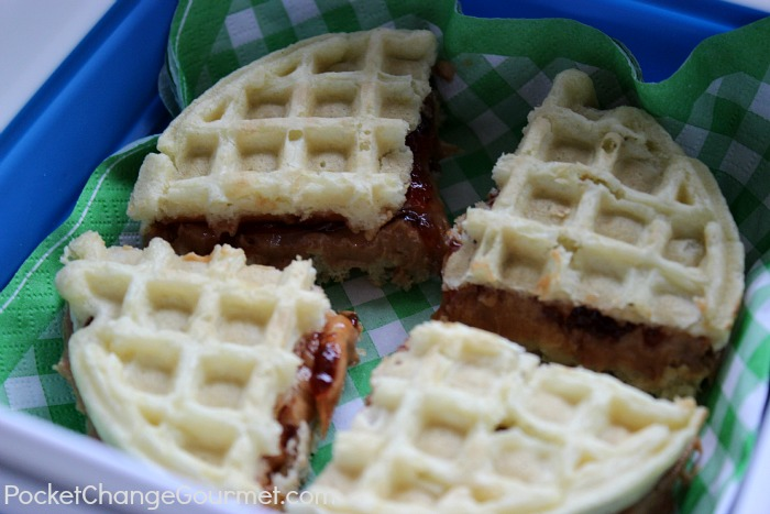 Peanut Butter and Jelly Waffle