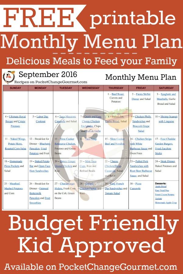 FREE Monthly Meal Planning Template - Bake Play Smile