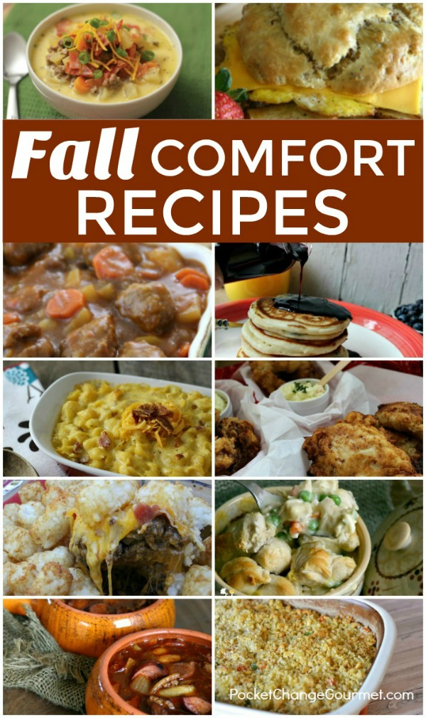 FALL COMFORT RECIPES -- It's that time again! Time to fire up the oven and make some comfort food!