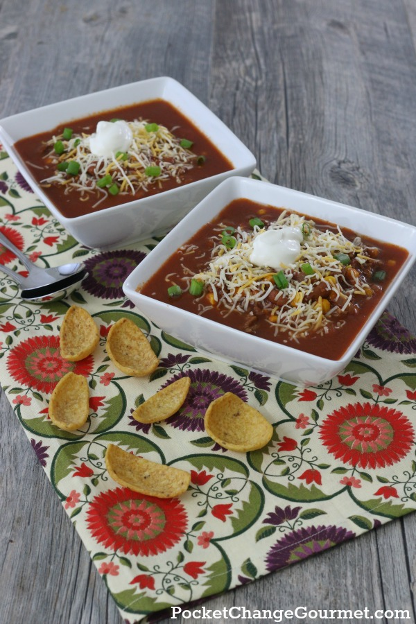 TACO SOUP -- Ready on the stovetop in 15 minutes or cook in the Slow Cooker!