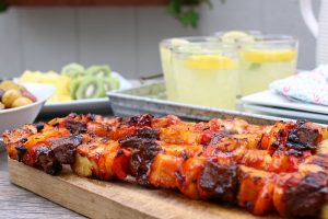 Easy Summer Cookout: Sweet BBQ Kabobs