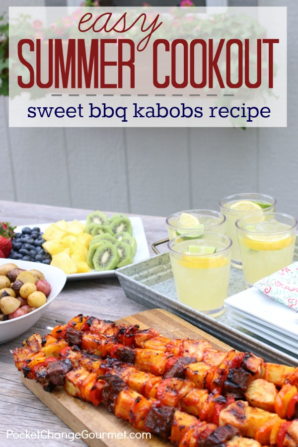 SWEET BBQ KABOBS RECIPE: Easy Summer Cookout Ideas