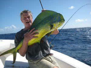 caught mahi fish