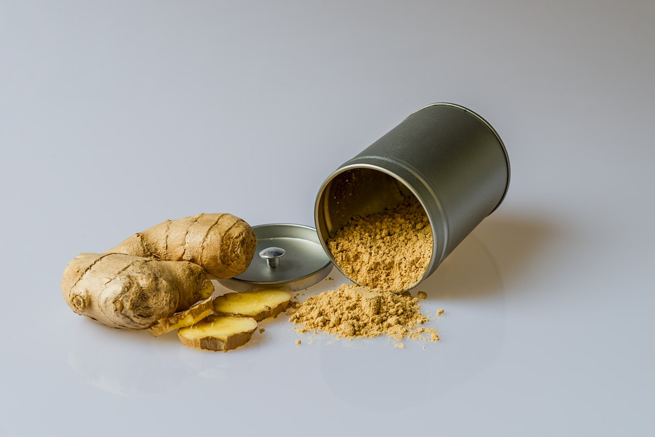 ginger in a can as a common spices