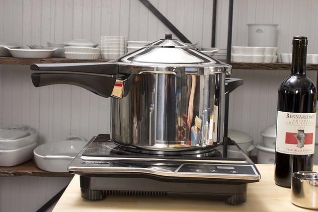 pressure cooker on induction stove