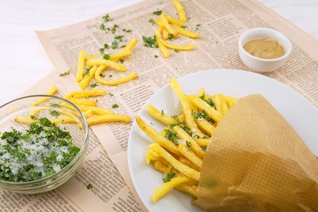 Freshly made french fries